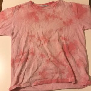 URBAN OUTFITTERS pink tie supper cut tee